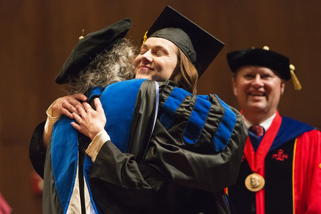 Doctoral Hooding Ceremony May 8, 2015. Photos by Katie Williamson
